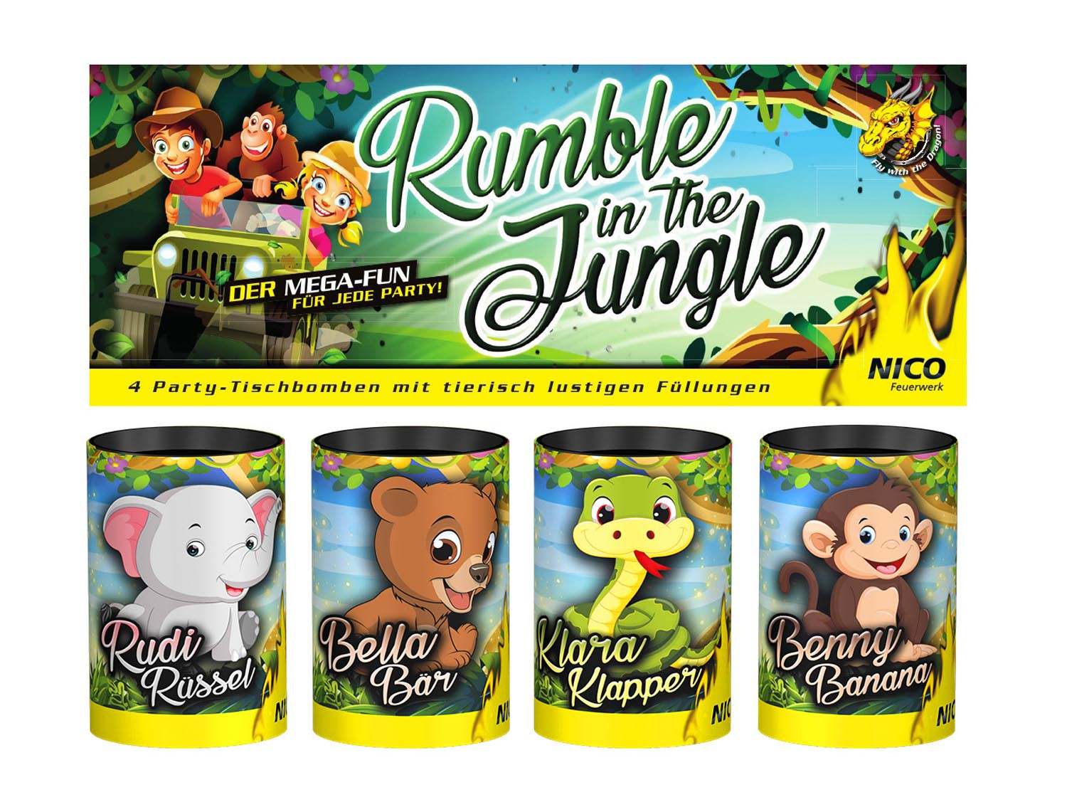 Rumble in the Jungle, 4er-Beutel